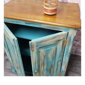 The distressed cabinet