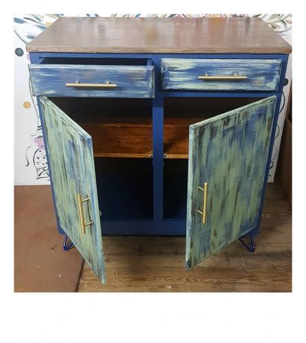 The other distressed cabinet